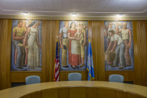 Sioux Falls City Hall - Commission Room Fresco
