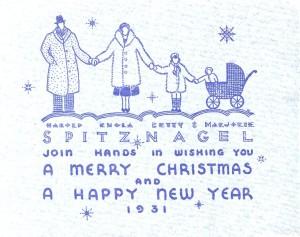 Spitz Christmas Card 1931